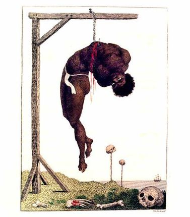 a-negro-hung-alive-by-the-ribs-to-a-gallows-1796