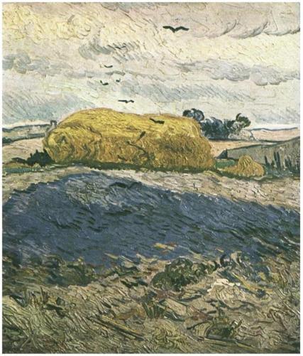 Haystacks-under-a-Rainy-Sky