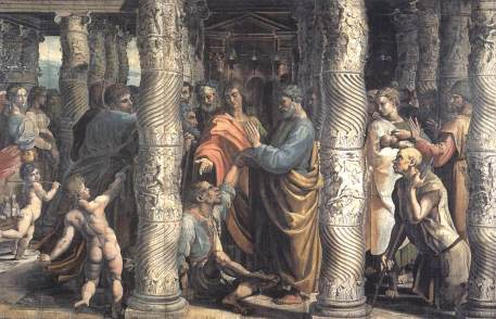 the-healing-of-the-lame-man-cartoon-for-the-sistine-chapel