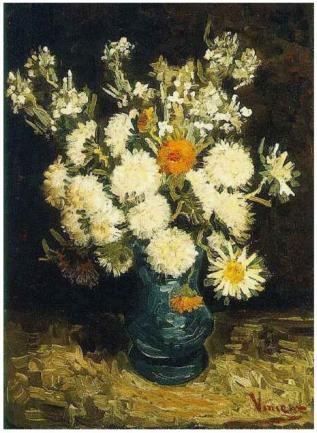 Flowers-in-a-Blue-Vase