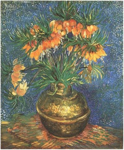 Fritillaries-in-a-Copper-Vase