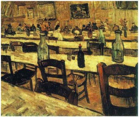 Interior-of-a-Restaurant-in-Arles