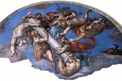 Michelangelo_Angeli_con_gli_strumenti_della_Passione_lunetta_destra