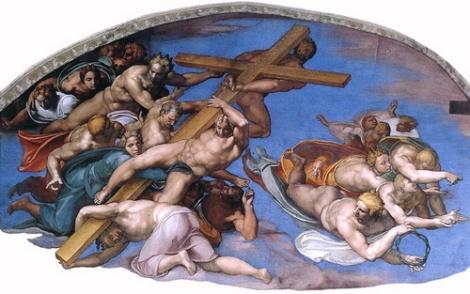 Michelangelo_Angeli_con_gli_strumenti_della_Passione_lunetta_sinistra