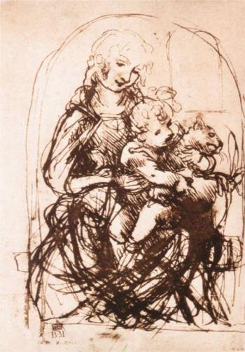 study-of-the-madonna-and-child-with-a-cat